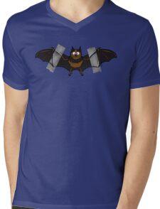 Do-It-Yourself Bat Logo Mens V-Neck T-Shirt