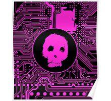 Pink Blurry Skull (Cybergoth) Poster