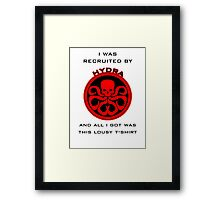 Agents of S.H.I.E.L.D > Ward's HYDRA t-shirt Framed Print