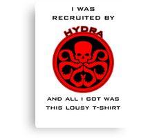 Agents of S.H.I.E.L.D > Ward's HYDRA t-shirt Canvas Print