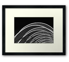 Abstract White Architecture On Sky Framed Print