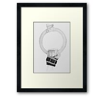 Hanging in there! Framed Print