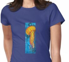 orange jellyfish Womens Fitted T-Shirt