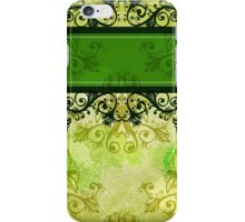Vintage green background iPhone Case/Skin