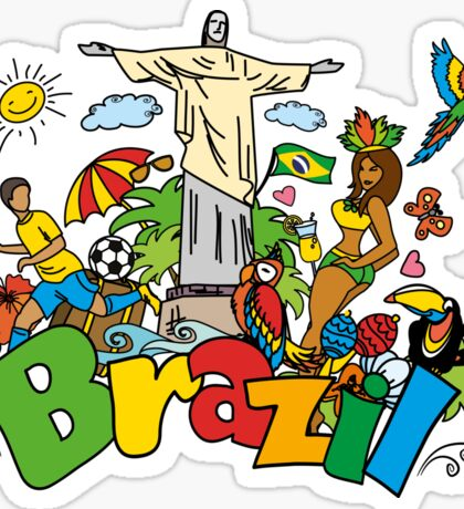 Funny cartoon brazil picture Sticker