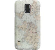Vintage Map of The World (1875)  Samsung Galaxy Case/Skin