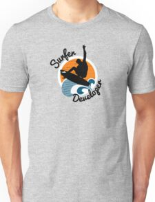 surfer developer surf waves programming Unisex T-Shirt