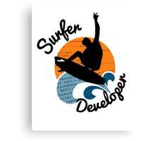 surfer developer surf waves programming Canvas Print