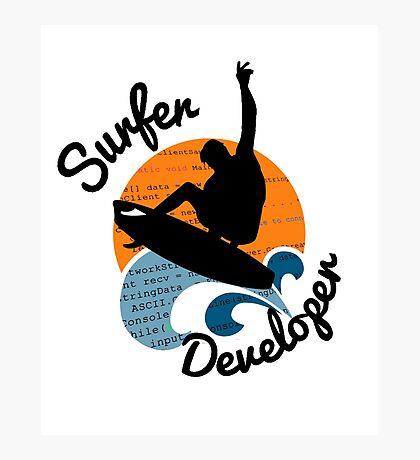 surfer developer surf waves programming Photographic Print