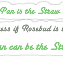 Peter Pan the Straw Doll Sticker