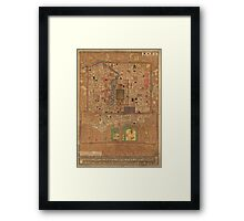 Vintage Map of Beijing China (1914) Framed Print