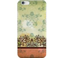 Vintage green background ll iPhone Case/Skin