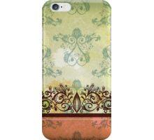 Vintage green background ll iPhone Case/Skin