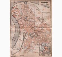 Vintage Map of Belgrade Serbia (1905) Unisex T-Shirt