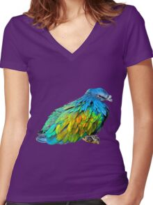Blazing colours Women's Fitted V-Neck T-Shirt