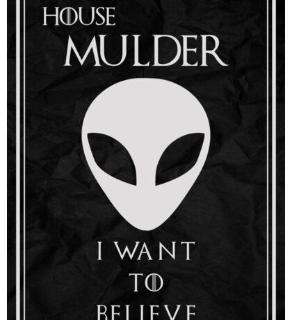House Mulder Sticker