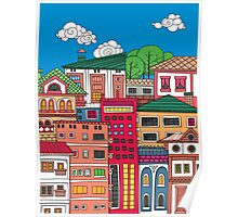 Doodle town Poster