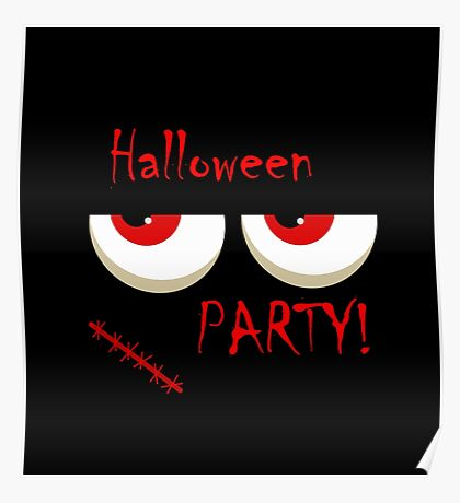 Halloween party - monsters red eyes Poster