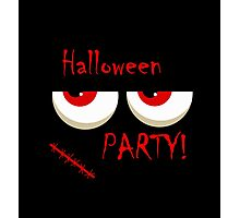 Halloween party - monsters red eyes Photographic Print