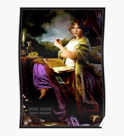 GYPSY MYSTIC; Tarot Reader Advertising Print Poster