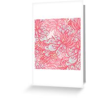Pink floral pattern Greeting Card