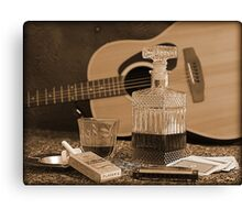 To Relax is to Inspire, when making music Canvas Print