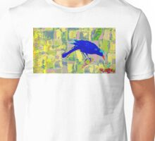Blue Bird and insect. Unisex T-Shirt
