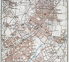 Vintage Map of The Berlin Germany Suburbs (1914)  by BravuraMedia