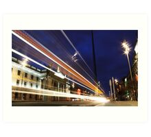 O'Connell Street at Night Art Print