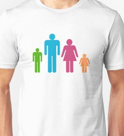 Stickfigure Family Unisex T-Shirt