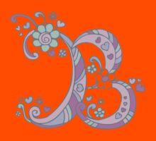 The Letter B decorative doodle monogram Kids Tee
