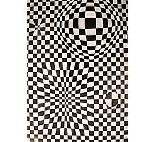 Vasarely: Black & White Photographic Print