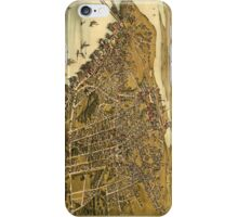 Vintage Pictorial Map of Beverly MA (1886) iPhone Case/Skin