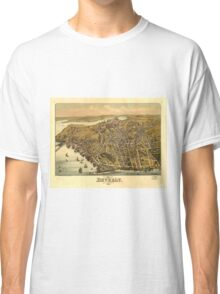 Vintage Pictorial Map of Beverly MA (1886) Classic T-Shirt