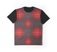 optical spherical red pattern Graphic T-Shirt