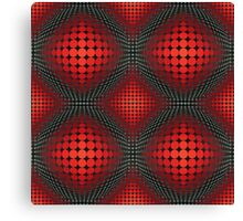 optical spherical red pattern Canvas Print