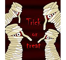 Trick or treat - Halloween mummy Photographic Print
