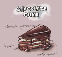 Chocolate Cake Slice Illustration by texasaggie