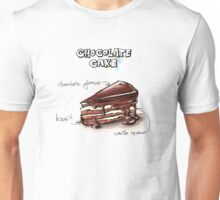 Chocolate Cake Slice Illustration Unisex T-Shirt
