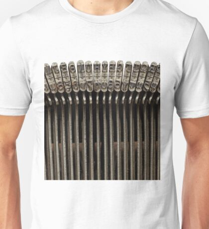 Greek typing keyboard Unisex T-Shirt