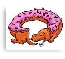 Doughtshund with sprinkles Canvas Print