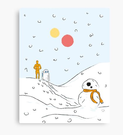 A Very BB8 Christmas Canvas Print