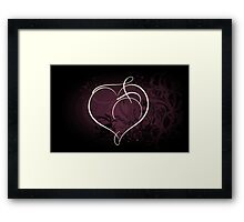 Purple Heart of Passion Framed Print
