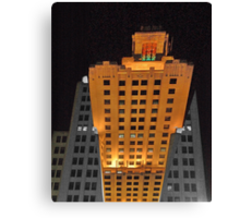Skyscraper at night Canvas Print