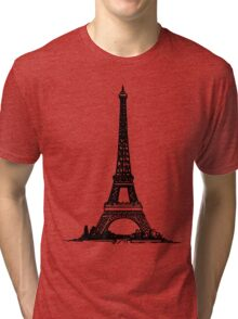 Eiffel Tower Drawing Tri-blend T-Shirt