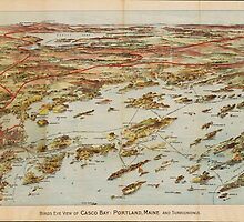 Vintage Pictorial Map of Portland Maine (1906)  by BravuraMedia