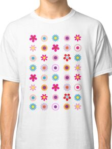 Colorful Flowers Pattern Classic T-Shirt