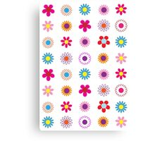 Colorful Flowers Pattern Canvas Print