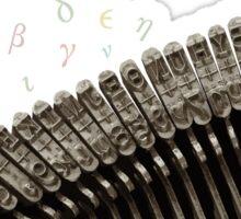 Greek typing keyboard Sticker