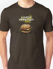 Classic Hamburger Illustration with Ingredients Unisex T-Shirt